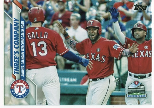 Photo of 2020 Topps #365 Three's Company/Elvis Andrus/Willie Calhoun/Joey Gallo