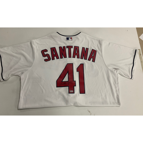 Photo of Carlos Santana Autographed Home REPLICA Jersey - Size Large