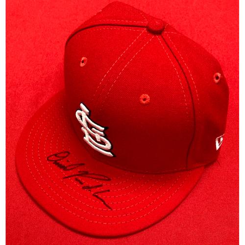 Photo of Daniel Ponce de Leon Autographed Team-Issued Home Cap (Size 7 1/8)