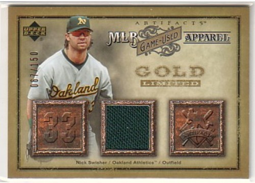 Photo of 2006 Artifacts MLB Game-Used Apparel Gold Limited #NS Nick Swisher Jsy/150