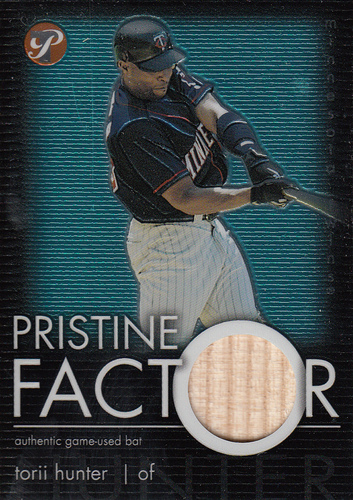 Photo of 2003 Topps Pristine Factor Bat Relics #TKH Torii Hunter