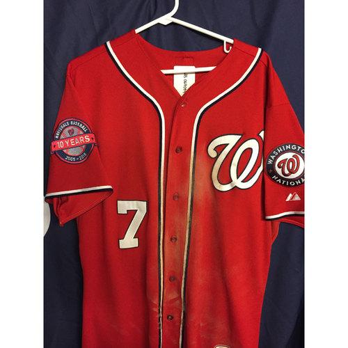 promo code 83418 2742b MLB Auctions | Game-Used Alternate Jersey: Trea Turner