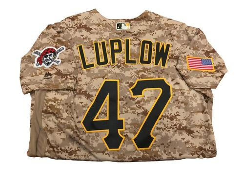 Jordan Luplow Team-Issued Camo Jersey