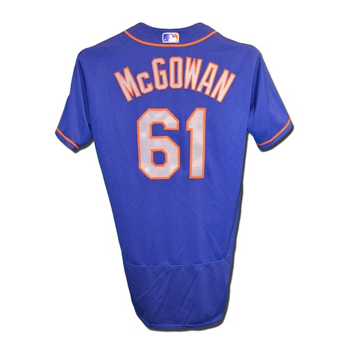 Kevin McGowan #61 - Game Used Blue Alt. Road Jersey - 1 IP, 0 ER - Mets vs. Phillies - 9/29/17