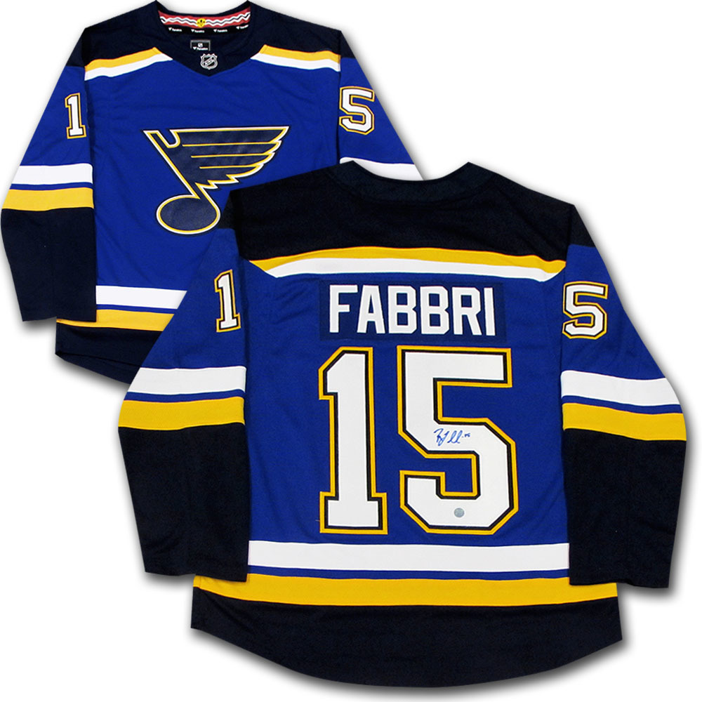 new concept fc4fa f63af Robby Fabbri Autographed St. Louis Blues Fanatics Jersey ...