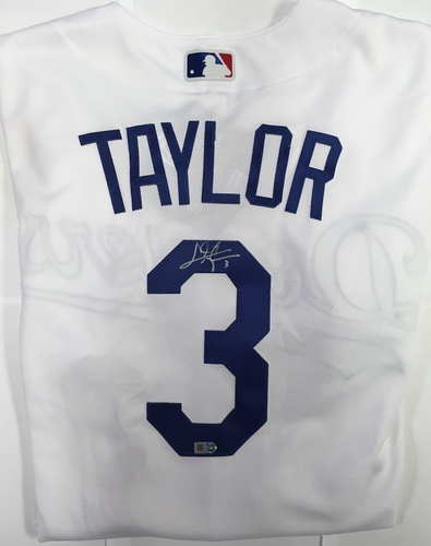 Photo of Chris Taylor Autographed Authentic Dodgers Jersey
