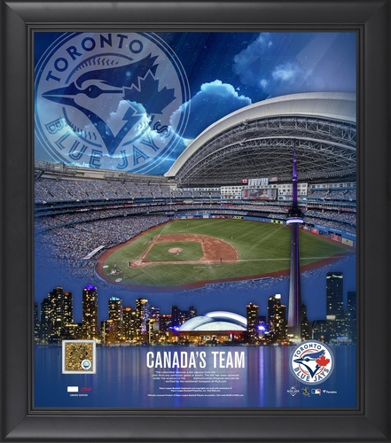 "Photo of Toronto Blue Jays Framed 15"" by 17"" Canada's Team with Game Used Dirt by Fanatics"