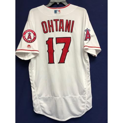 Shohei Ohtani Game-Used 2018 Home Jersey