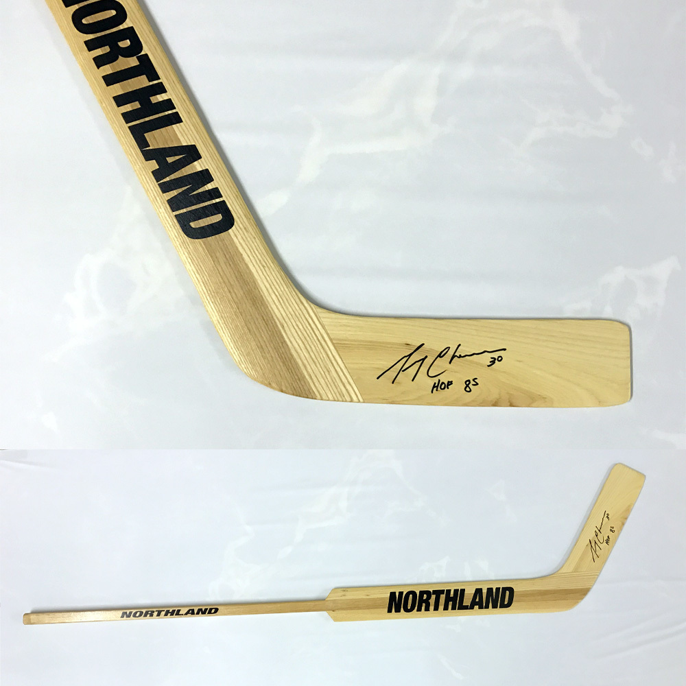 GERRY CHEEVERS Signed Northland Stick W/HOF Inscription - Boston Bruins