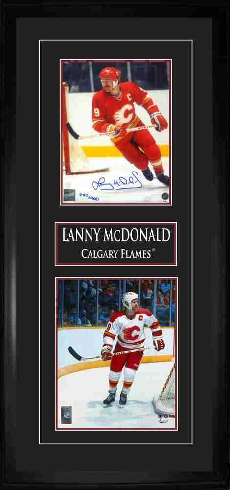 McDonald,L Signed 8x10 Double Photo Frame Flames