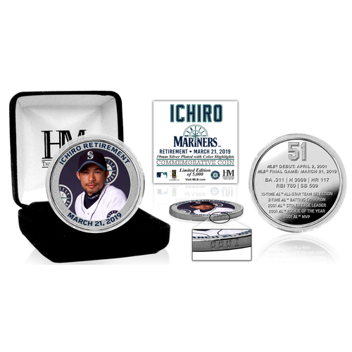Photo of Ichiro Retirement Silver Color Mint Coin