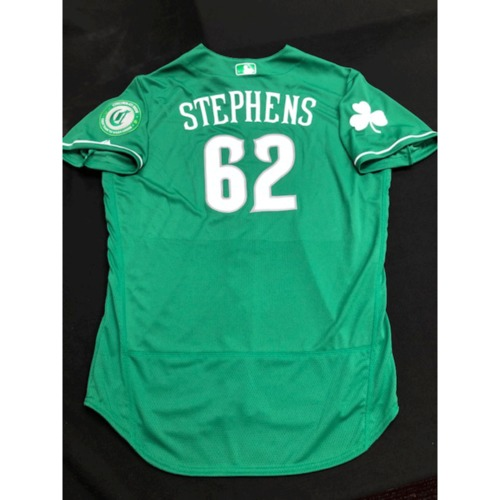 Photo of Jackson Stephens -- Team-Issued Jersey -- 2019 St. Patrick's Day