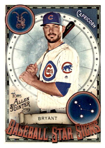 Photo of 2019 Topps Allen and Ginter Baseball Star Signs #BSS29 Kris Bryant