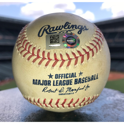 Game-Used Baseball: 7/5/19 Astros vs Angels, Justin Verlander to Cole Calhoun (Double)