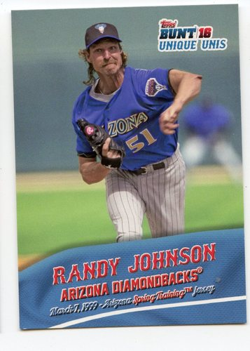Photo of 2016 Topps Bunt Unique Unis #UU2 Randy Johnson