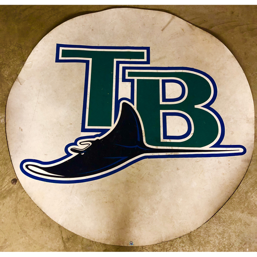 Photo of Tampa Bay Rays On-Deck Circle: TB with Devil Ray - Local Pick-Up Only