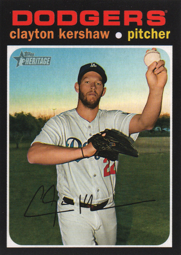 Photo of 2020 Topps Heritage #385 Clayton Kershaw