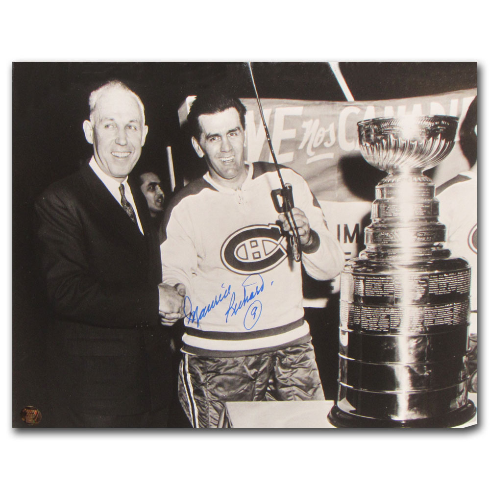 Maurice Richard Autographed Montreal Canadiens 11X14 Photo