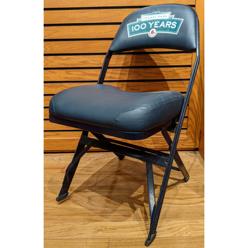 Photo of Fenway 100 Anniversary Game April 20, 2012 Visitor's Locker Room Game Used Clubhouse Chair