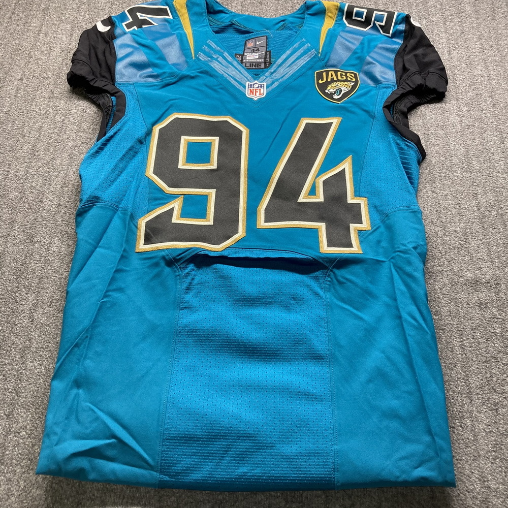 Jaguars - Jeremey Mincey Game Issued Jersey 44