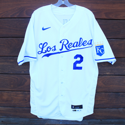 Photo of Game-Used Los Reales Jersey: Michael A. Taylor #2 - 1 for 4 (Single) (SEA@KC 9/17/21) - Size 44