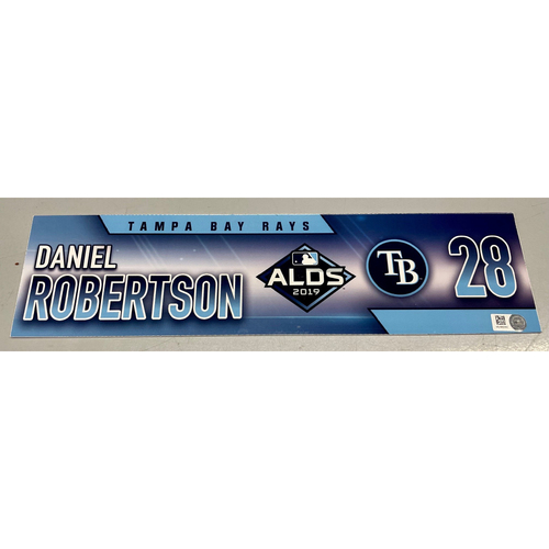 Photo of Team Issued ALDS Locker Tag: Daniel Robertson - 2 Games - October 4, 10, 2019 at HOU