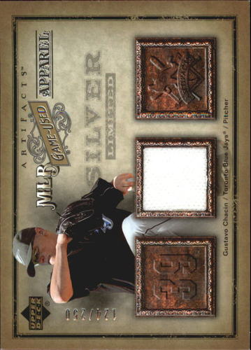 Photo of 2006 Artifacts MLB Game-Used Apparel Silver Limited #GC Gustavo Chacin Jsy/250