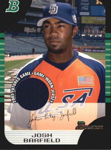 Photo of 2005 Bowman Draft Futures Game Jersey Relics #138 Josh Barfield