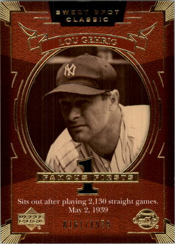 Photo of 2004 Sweet Spot Classic #127 Lou Gehrig FF Lineup/1939