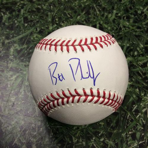 Brett Phillips Autographed Baseball