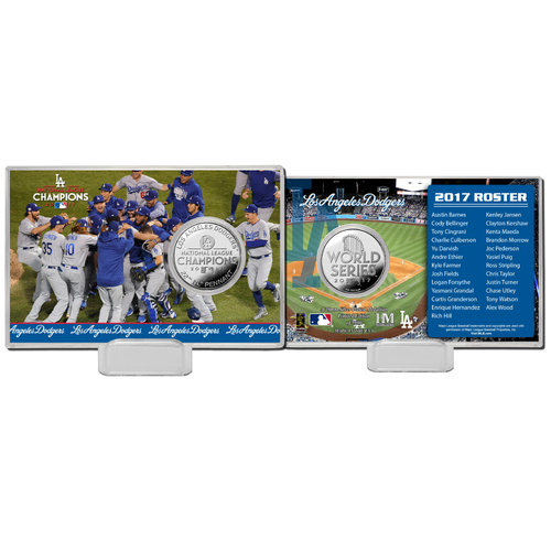 Los Angeles Dodgers 2017 NL Champions Silver Coin Card