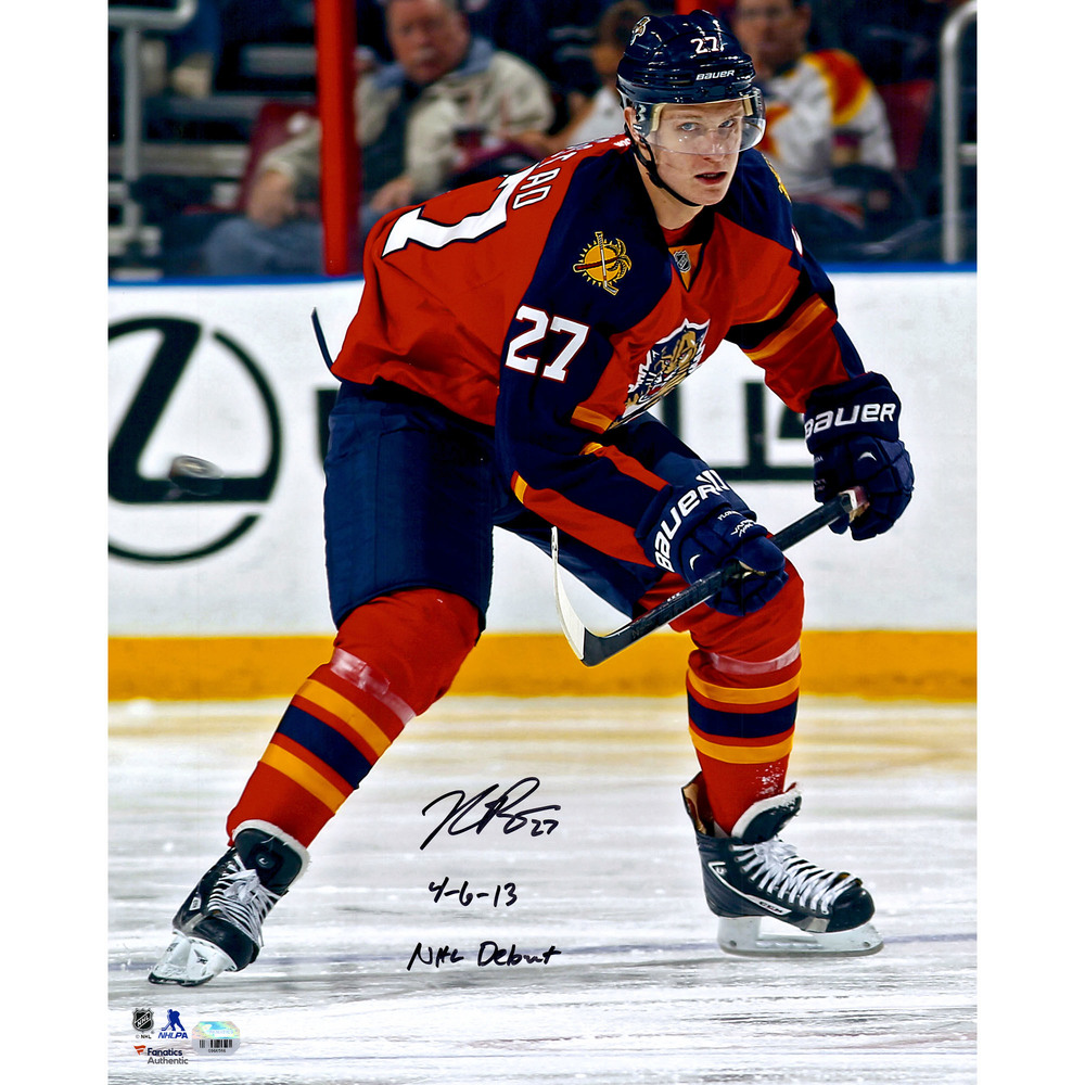 Nick Bjugstad Florida Panthers Autographed 16