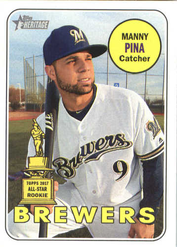 Photo of 2018 Topps Heritage #344 Manny Pina