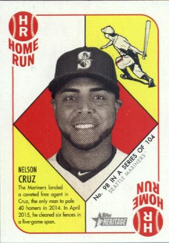 Photo of 2015 Topps Heritage '51 Collection #98 Nelson Cruz