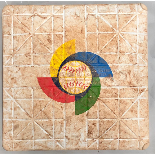 Photo of 2017 World Baseball Classic Game Used Base- 3rd Base (Dominican Republic at Colombia)