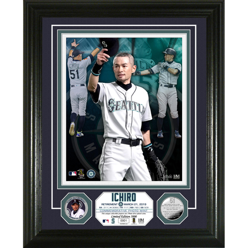 "Photo of Ichiro ""Retirement"" Silver Coin Photo Mint"