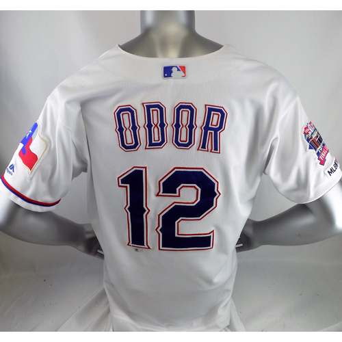 Photo of Rougned Odor Game-Used White Homerun Jersey - 5/17/19 v STL, 6/21/19 v CWS