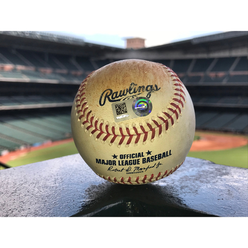 Photo of Game-Used Baseball: 5/28/19 Astros vs Cubs, Roberto Osuna to Wilson Contreras (Strikeout) and Albert Almora, Jr. (Swinging strike and ball)