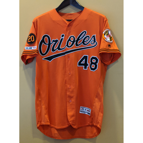 Photo of Richard Bleier - Orange Alternate Jersey: Game-Used
