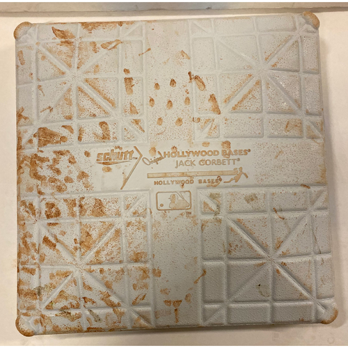 Photo of 2019 NLDS Game Used Base - First Base Used During 2nd Inning - 10/9/19 - Cardinals Clinch