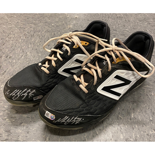 Photo of 2019 Holiday Sale - 2019 Autographed Cleats - #5 Mike Yastrzemski - Size 10 1/2