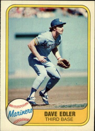 Photo of 1981 Fleer #610 Dave Edler RC