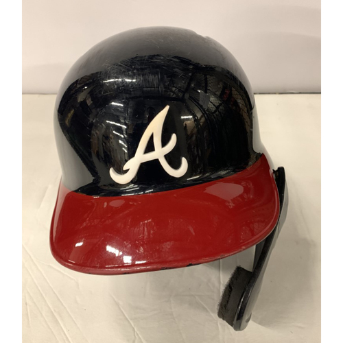 Photo of Ronald Acuna Jr. Game Used Postseason Helmet - Worn 10/3/19 - Also worn 8/14 and 9/19