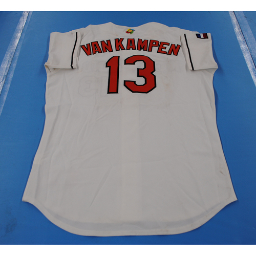 Photo of 2006 Inaugural World Baseball Classic: Michiel van Kampen Game-worn Team Netherlands Home Jersey
