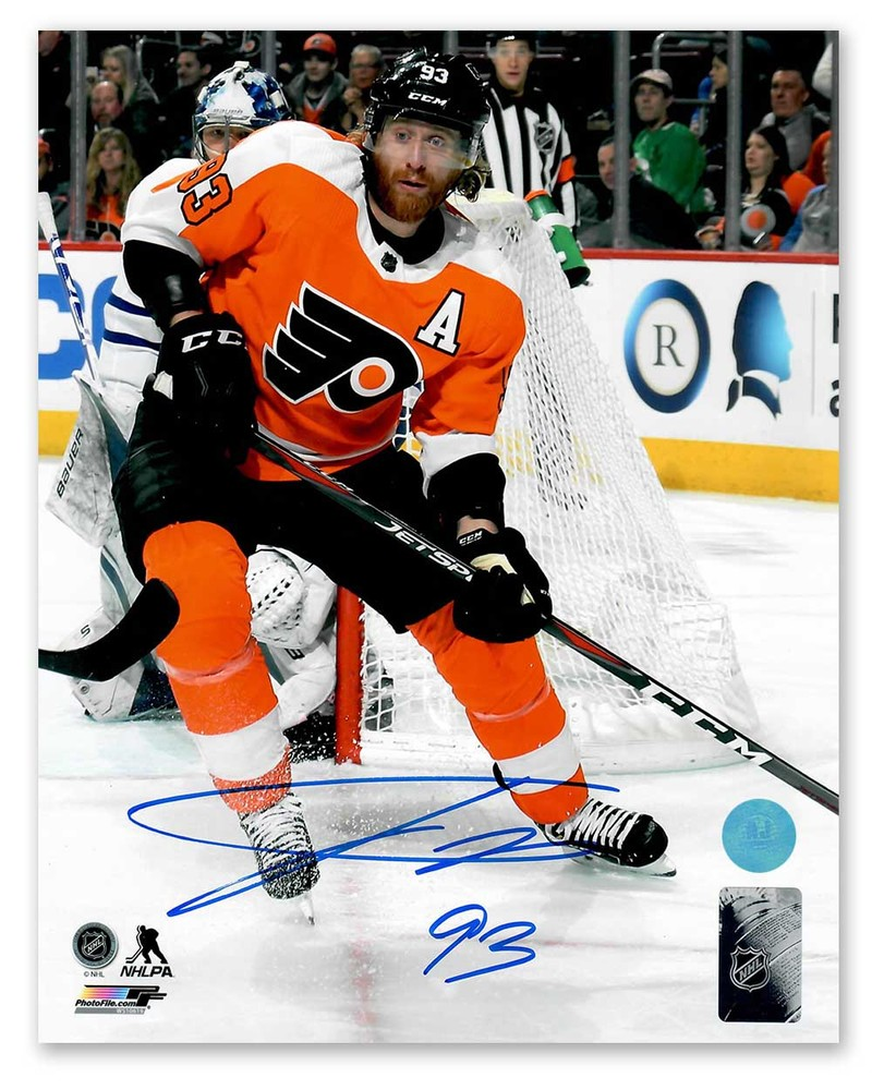 Jakub Voracek Philadelphia Flyers Autographed NHL Hockey Action 8x10 Photo