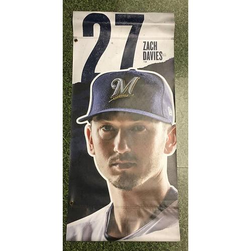Photo of Zach Davies 2019 Team-Issued Plaza Banner