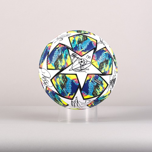 Photo of A 19/20 Champions League ball signed by the Valencia CF Team