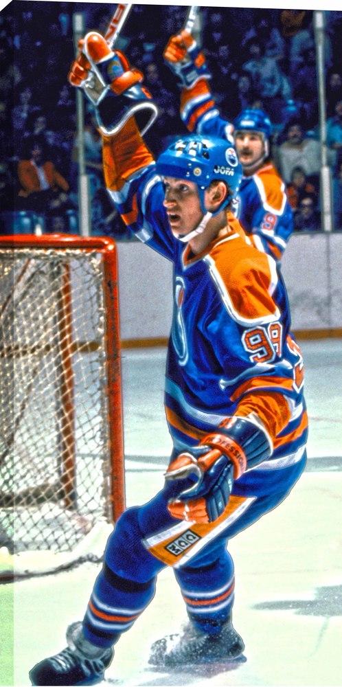 Wayne Gretzky - 14x28 Canvas Oilers