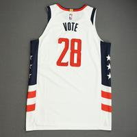 Ian Mahinmi - Washington Wizards - Game-Worn City Edition Jersey - Dressed, Did Not Play (DNP) - 2019-20 NBA Season Restart with Social Justice Message