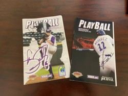 Photo of Carson Fulmer & Omar Narvaez signed Playballs